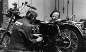 Triumph motorcycles being made at the Meriden factory. Meriden Motorcycle Cooperative - John Sturrock - 19-07-1974