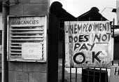 Engineering workers occupying Firth Derihon factory against redundancies Sheffield Yorkshire 1983. Unemployment does not pay OK - John Sturrock - 1980s,1983,Aero-Gas,against,capitalism,capitalist,cities,city,close,closed,closing,closure,closures,compulsory,deindustrialisation,Deindustrialization,down,DOWNTURN,EBF,EBF Economy,economic,Economic C