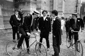 Boys waiting for roll call, Fourth of June Ceremony, Eton College - John Sturrock - 04-06-1990