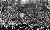 Protest in support of the Militant led Liverpool City Council, against job cuts and rate capping, Liverpool City Hall 1984 - John Sturrock - 23-09-1984