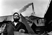 An asian woman foundry worker, Smethwick, West Midlands, 1989 - John Sturrock - 1980s,1989,asian,asians,BAME,BAMEs,Black,BME,BME Black minority ethnic,bmes,Building,buildings,capitalism,capitalist,chimmny,cities,city,diversity,EBF Economy,ethnic,ethnicity,factories,factory,FEMALE