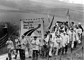 The Peoples March for Jobs, marching south from Glasgow, Scotland 1983 - John Sturrock - 20-04-1983