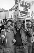 National Front Rally, Fulham, London 1981 - John Sturrock - ,(NF),1980s,1981,activist,activists,against,anger,angry,banner,banners,bigotry,CAMPAIGN,campaigner,campaigners,CAMPAIGNING,CAMPAIGNS,cities,city,DEMONSTRATING,DEMONSTRATION,DEMONSTRATIONS,DISCRIMINATI