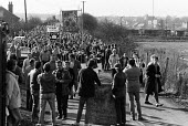 NUM Strikers march back to Wath Main colliery to return to work at the end of the year long strike, Wath-on-Dearne, Yorkshire. - John Sturrock - 08-03-1985