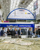 Visitors to the Sheffield City Region stand, MIPIM UK, Olympia , London - John Sturrock - 15-10-2014