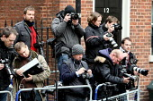 Press photographers waiting around for Alistair Darling. Budget Day 2010. London. - Justin Tallis - 24-03-2010