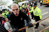 English Defence League protestors clash with police. Aylesbury. - Justin Tallis - 01-05-2010