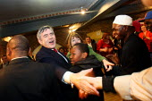 Prime Minister Gordon Brown greeting supporters at a campaign event in South London. - Justin Tallis - 2010,2010s,BAME,BAMEs,Black,BME,bmes,brown,campaign,campaigning,CAMPAIGNS,diversity,ethnic,ethnicity,General Election,gordon,greeting,Labour Party,minister,minorities,minority,people,pm,poc,pol politi