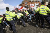 English Defence League protestors clash with police. Dudley. - Justin Tallis - 17-07-2010