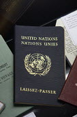 1971 United Nations Passport on display at the Passport Office in London. - Justin Tallis - 25-08-2010