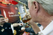 A man enjoying is ale at The Great British Beer Festival, Earls Court, London. - Justin Tallis - 05-08-2010