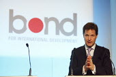 Nick Clegg MP at an event supporting the Millennium Development Goals (MDGs). Hosted by NGO Bond. London. - Justin Tallis - 15-09-2010