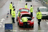 Police checking vehicles entering the 2010 Liberal Democrat conference. Liverpool. - Justin Tallis - 19-09-2010