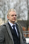 Wikileaks founder Julian Assange arriving at Belmarsh Magistrates court to fight extradition to Sweden. London. - Justin Tallis - 2010s,2011,activist,activists,ARRIVAL,arrivals,arrive,arrived,arrives,arriving,CAMPAIGN,campaigner,campaigners,CAMPAIGNING,CAMPAIGNS,CLJ,court,court case,wikileaks