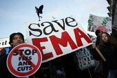 Day of Action against cutting the EMA. Called by Education Activist Network. London - Justin Tallis - 19-01-2011