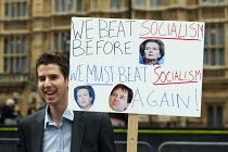 Rally against debt in Westminster. London. - Justin Tallis - 14-05-2011
