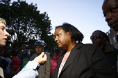 Diane Abbott MP for Hackney North and Stoke Newington out in Hackney speaking to the press during rioting and looting that has today spread to many places in London, and around England, after Mark Dug... - Justin Tallis - 08-08-2011
