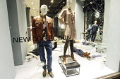 Smashed windows of designer clothing store Hugo Boss in Sloan Square after rioting and looting has spread to many places in London, and around England, after Mark Duggan, 29, was killed by police on T... - Justin Tallis - 09-08-2011