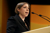 Sarah Teather MP speaking at the Liberal Democrats conference. Birmingham. - Justin Tallis - 18-09-2011