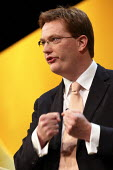 Danny Alexander MP speaking at the Liberal Democrats conference. Birmingham. - Justin Tallis - 18-09-2011