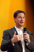 Deputy Prime Minister Nick Clegg doing a question and answer session at the Liberal Democrats conference. Birmingham. - Justin Tallis - 19-09-2011
