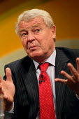Paddy Ashdown doing a question and answer session at the Liberal Democrats conference. Birmingham. - Justin Tallis - 21-09-2011
