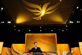 Deputy Prime Minister Nick Clegg giving his leaders speech at the Liberal Democrats conference. Birmingham. - Justin Tallis - 21-09-2011