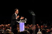 Ed Miliband MP giving his leaders speech at the Labour Party Conference. Liverpool. - Justin Tallis - 27-09-2011