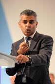 Sadiq Khan MP giving a speech at the Labour Party Conference. Liverpool. - Justin Tallis - 28-09-2011