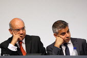 Keith Vaz and Sadiq Khan at the Labour Party Conference. Liverpool. - Justin Tallis - 28-09-2011