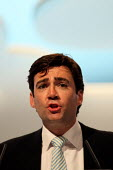 Andy Burnham MP speaking at the Labour Party Conference. Liverpool. - Justin Tallis - 28-09-2011