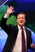 Prime Minister David Cameron giving his leaders speech. Conservative Party Conference. Manchester. - Justin Tallis - 05-10-2011