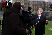 Dave Prentis Unison in Westerminster for television interviews. London - Justin Tallis - 29-11-2011