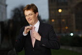 Danny Alexander MP in Westerminster for television interviews. London. - Justin Tallis - 29-11-2011