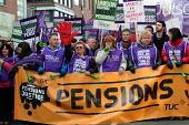 Strike against public sector pension cuts. Manchester. - Justin Tallis - 30-11-2011