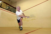 Sportsman playing a game of squash - Justin Tallis - 29-12-2004