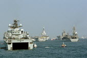 Naval ships descend on Portsmouth to re-enact The Battle of Trafalgar - Justin Tallis - 27-06-2005