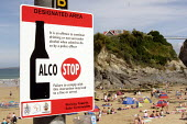 Alcohol Free Zone on the beach in Newquay - Justin Tallis - ,2000s,2005,alco stop,alcohol,anti social behaviour,area,banned,Beach,BEACHES,behavior,behaviour,bylaw,bylaws,CLJ law,COAST,coastal,coasts,communicating,communication,Council Services,Council Services