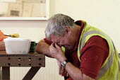 Tired Worker at Machen Quarry on his lunch break. - Justin Tallis - 25-10-2005