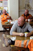 Workers of Machen Quarry on their lunch break. - Justin Tallis - 25-10-2005