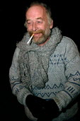 Homeless man on the streets of Cardiff - Justin Tallis - 20-12-2005