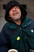 Homeless man on the streets of Cardiff - Justin Tallis - 04-01-2006