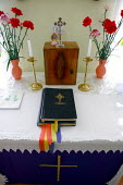 The Bible in a convent in Jibuo, Romania. - Justin Tallis - 17-03-2007