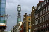 The BT Tower on Cleveland Street, London. Previously the Post Office Tower. - Justin Tallis - 13-09-2008
