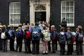 Pupils on a day trip to Number 10 Downing Street. London. - Justin Tallis - 05-06-2009