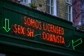 Licensed Sex Shop. Soho, London. - Justin Tallis - 2000s,2009,area,district,EBF Economy,employee,employees,Employment,europeregi,job,jobs,LBR,licensed,light,people,red,sex,sexism sexist,sexuality,Shop,shop shops,sign signs,SOI social issues,staff,Stre