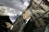 Lord Turner of the FSA arrives at the Treasury to attend a meeting with Chancellor of the Exchequer. London - Justin Tallis - ,2000s,2009,adair turner,AUTO,AUTOMOBILE,AUTOMOBILES,AUTOMOTIVE,bank,banker,bankers,banking,banks,businessman,businessmen,call,calls,car,CARS,CELLULAR,cities,city,communicating,communication,EBF econo