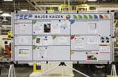 Trenton, Michigan - A kaizen board at Chrysler Trenton South Engine Plant describes steps being taken to solve a manufacturing problem. The Japanese term Kaizen refers to a management philosophy of co... - Jim West - 19-03-2010