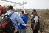 Three Points, Arizona. Humane Borders, a faith based group, maintains a network of dozens of water stations in the Arizona desert in hope of reducing the death toll among Mexican migrants who cross th... - Jim West - 26-01-2008