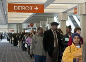 More than 5,000 unemployed residents of southeast Michigan showed up to look for work, at a job fair, sponsored by the City of Detroit. - Jim West - 12-03-2009